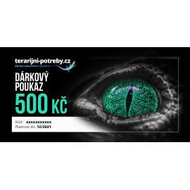 terarijni-potreby.cz dárkový poukaz 500 Kč