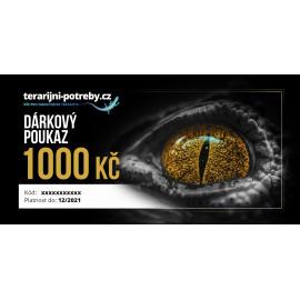 terarijni-potreby.cz dárkový poukaz 1000 Kč