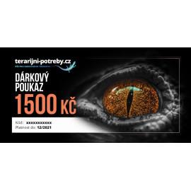 terarijni-potreby.cz dárkový poukaz 1500 Kč
