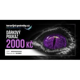 terarijni-potreby.cz dárkový poukaz 2000 Kč