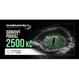 terarijni-potreby.cz dárkový poukaz 2500 Kč