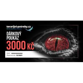 terarijni-potreby.cz dárkový poukaz 3000 Kč